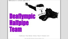 Deaflympic Halfpipe Team